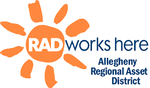 RAD Works Here - Allegheny Regional Asset District (logo)