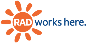 RAD Works Here - Allegheny Regional Asset District (logo)